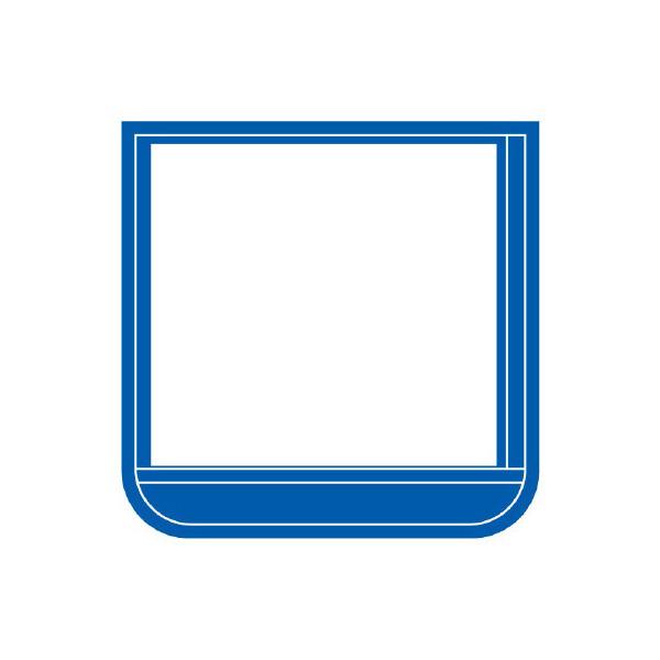 ポケット胸章 368−161 ワニ口タイプ 青