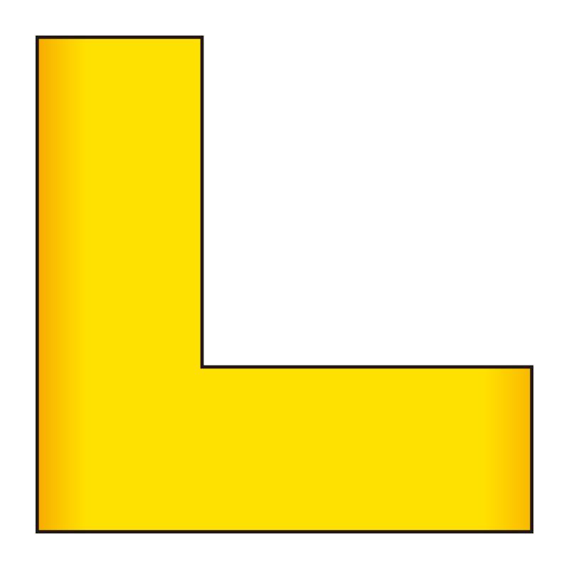 床貼ラインプロ L型 864−402 黄 2枚1組