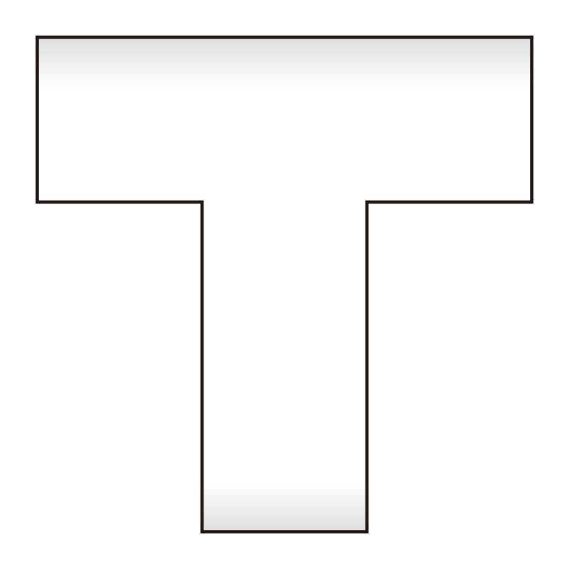 床貼ラインプロ T型 864−406 白 2枚1組
