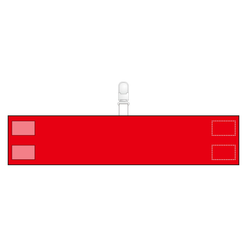 腕章 848−69A クリップタイプ 赤