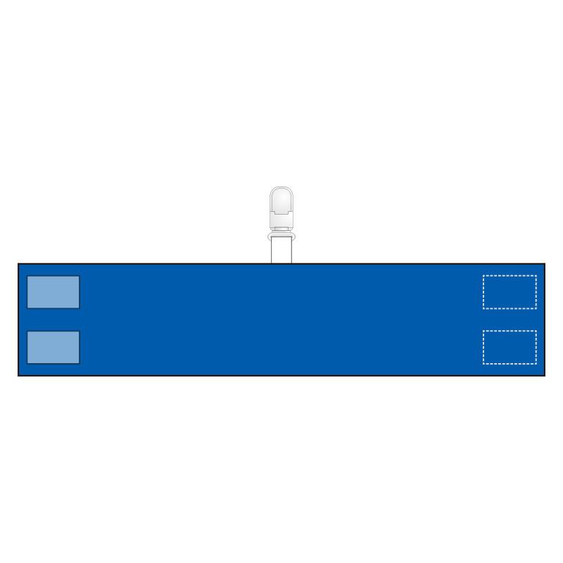 腕章 848−70A クリップタイプ 青