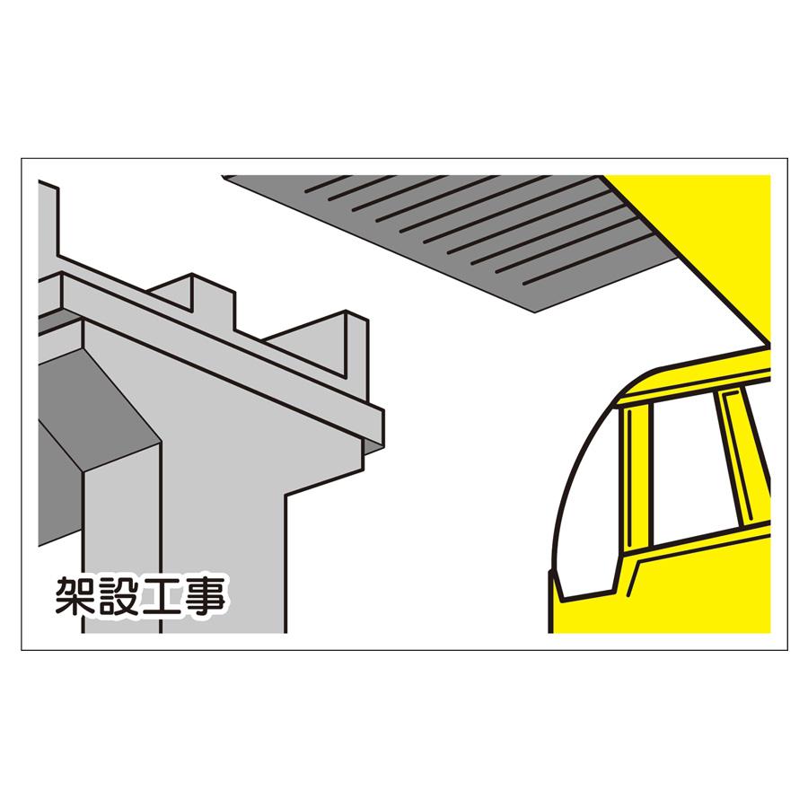 作業予定マグネット板 301−74 架設工事