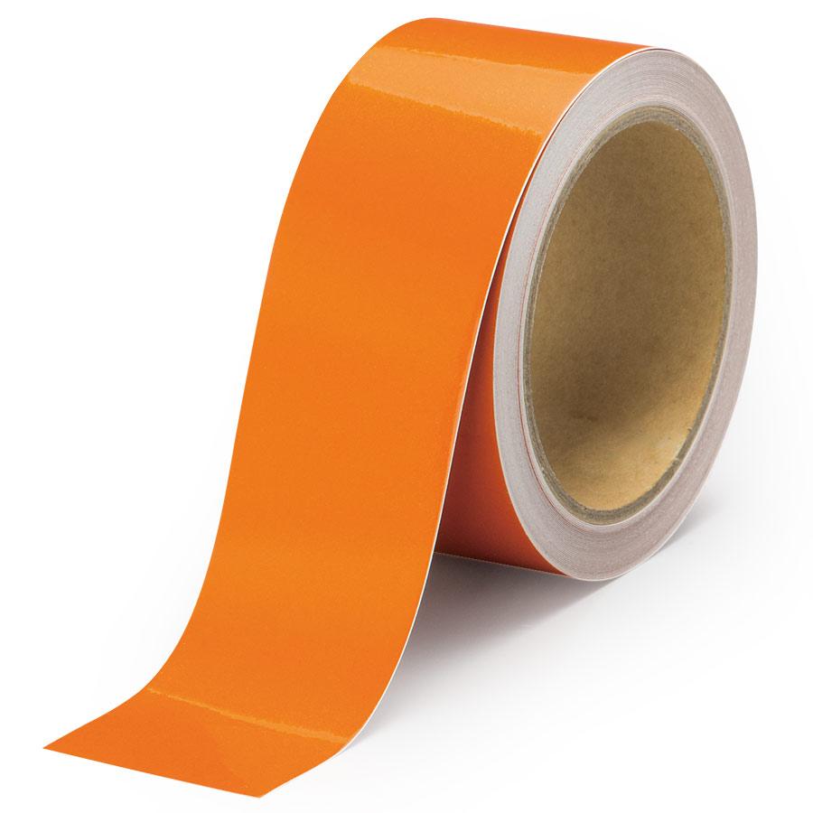 反射テープ 374−41 橙 50幅×10m