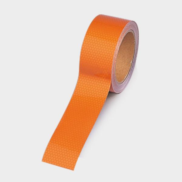 高輝度テープ 374−80 オレンジ 45幅×10m