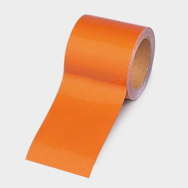 高輝度テープ 374−81 オレンジ 90幅×10m