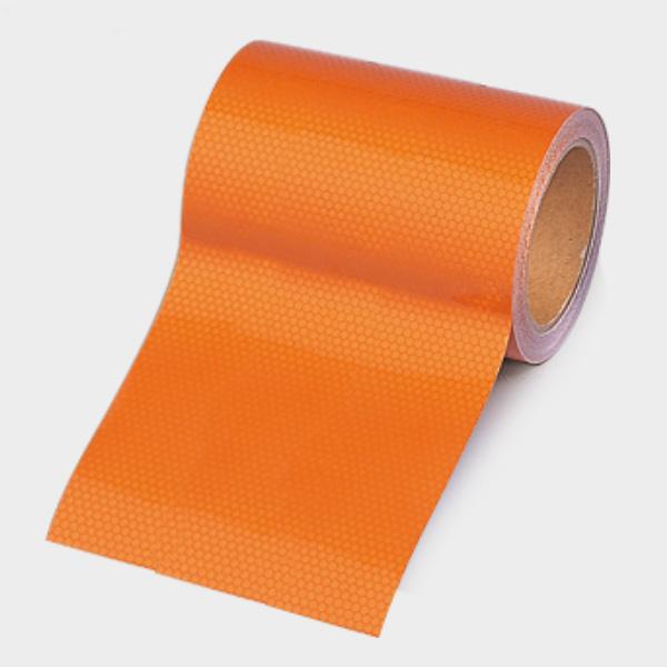 高輝度テープ 374−82 オレンジ 150幅×10m