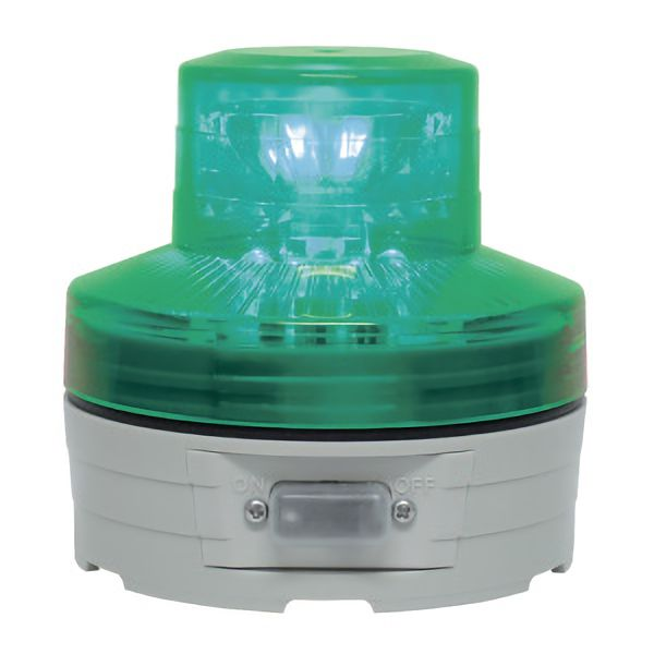 電池式小型LED回転灯 VL07B−003B 自動式・照度センサー付 緑