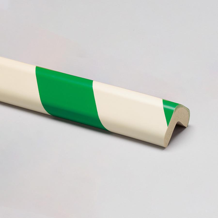 安心クッション L字型 90CM 大 緑/白 (販売単位:10本)