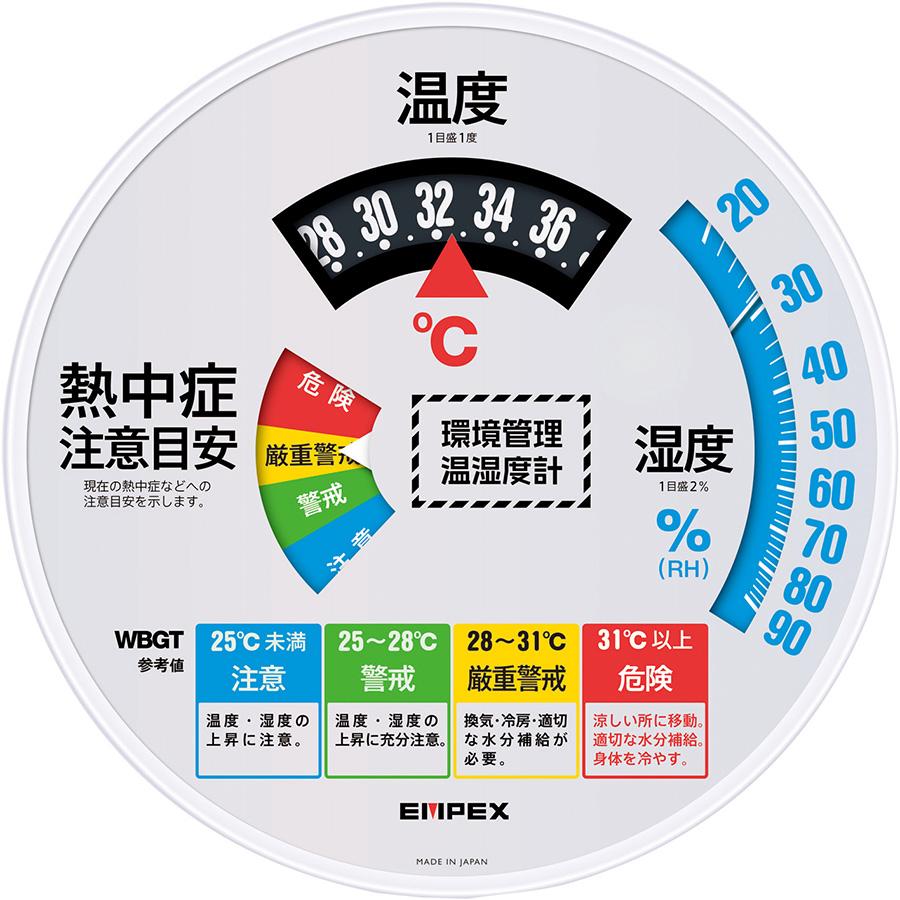 熱中対策 環境管理温湿度計 TM−2486W