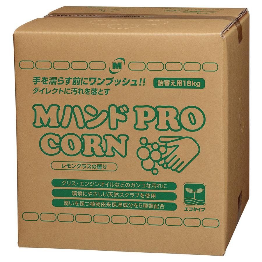 Mハンドクリーナー PRO/CORN 詰替え用BIB容器 コック付 18kg