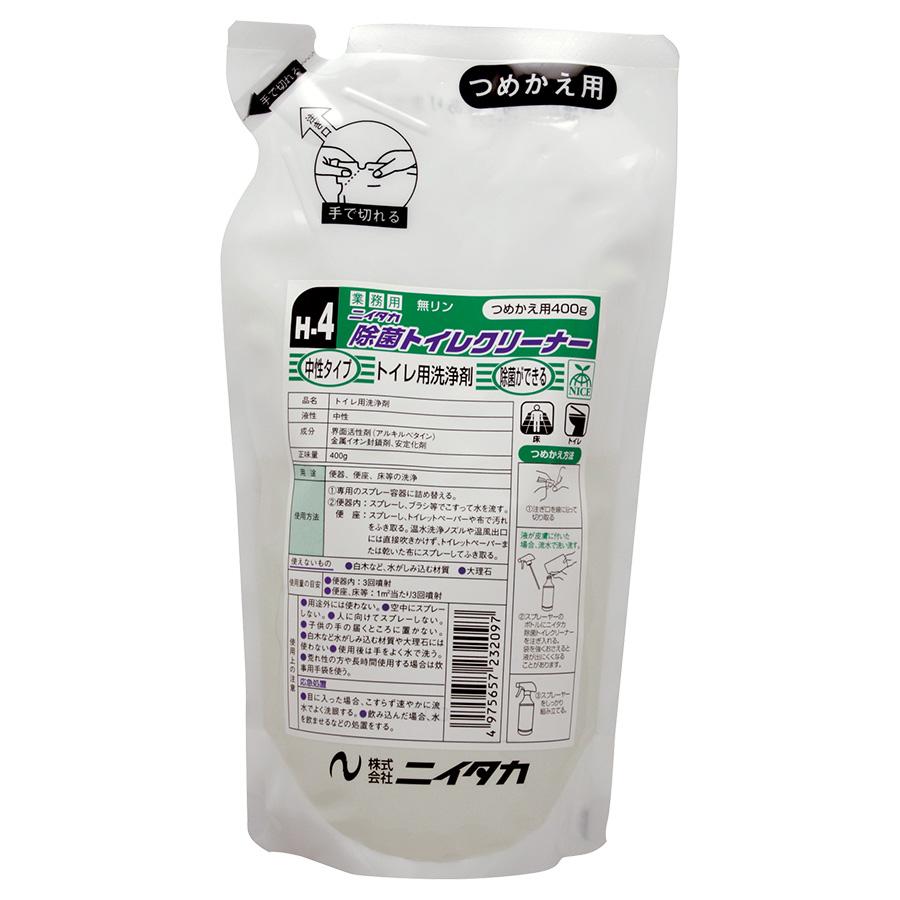 除菌トイレクリーナー 400gパウチ (12本入/箱)