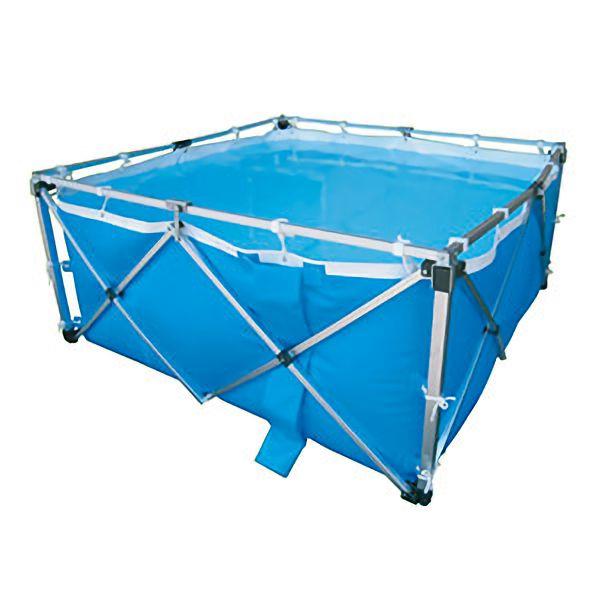 飲料水用 オールアルミワンタッチ水槽 カバー付 2500L