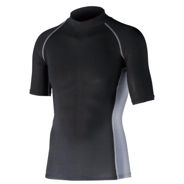 半袖ハイネックシャツ JW−624 LL ブラック