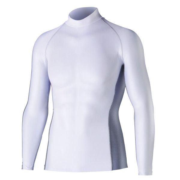 長袖ハイネックシャツ JW−625 L ホワイト