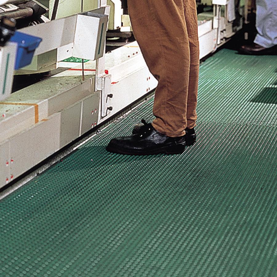 疲労防止マット (厚手) セーフ・ティーグマット 緑 900mm×1800mm