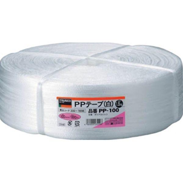 TRUSCO PPテープ白100mm巾×1000m PP100 3100