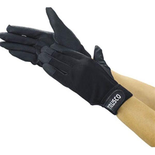 TRUSCO PU手袋厚手ブラックM TPUGBM 8539