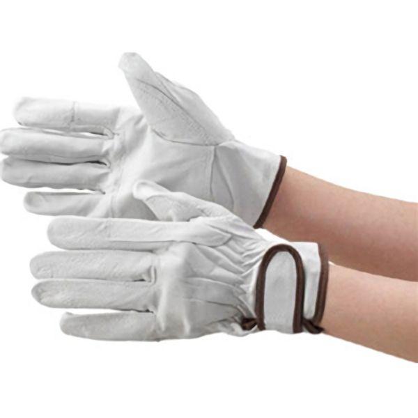 TRUSCO マジック式手袋 豚本革製当て付Mサイズ TYK718M 8539