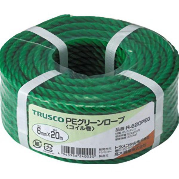TRUSCO PEグリーンロープ9×30mコイル巻 R930PEG 3100
