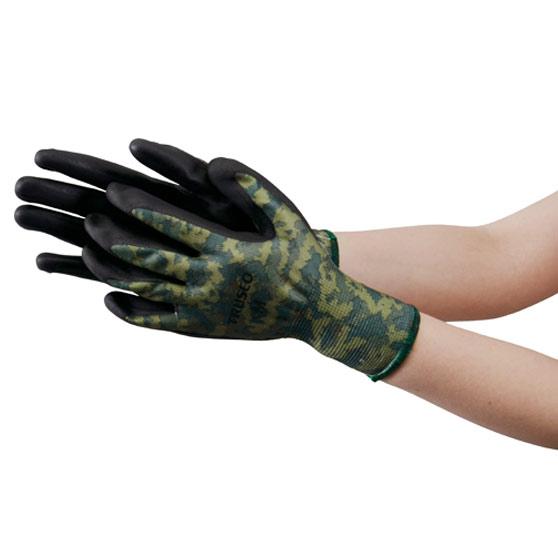 TRUSCO ニトリル背抜き迷彩手袋 LLサイズ TNGCMFLL 8539