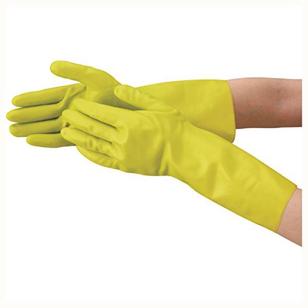 TRUSCO 天然ゴム手袋 中厚手タイプ グリ−ン Lサイズ DPM5495GL 8539