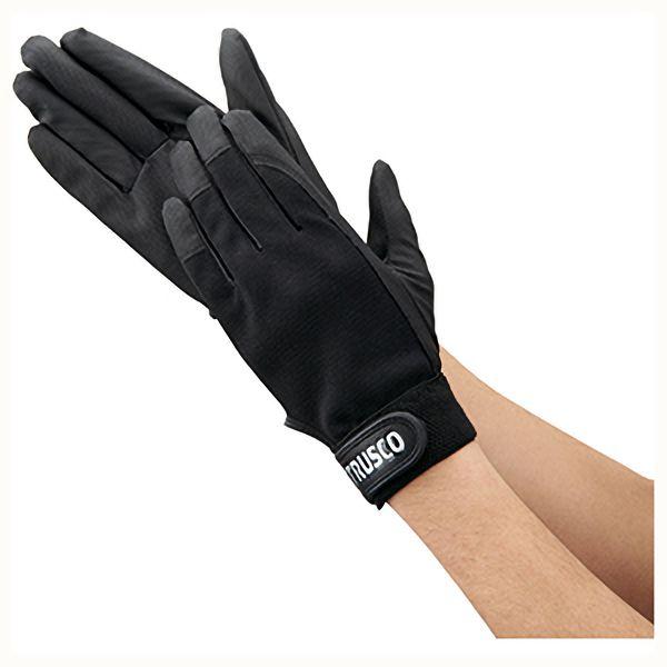 TRUSCO PU薄手手袋エンボス加工 ブラック S TPUMBS 8539