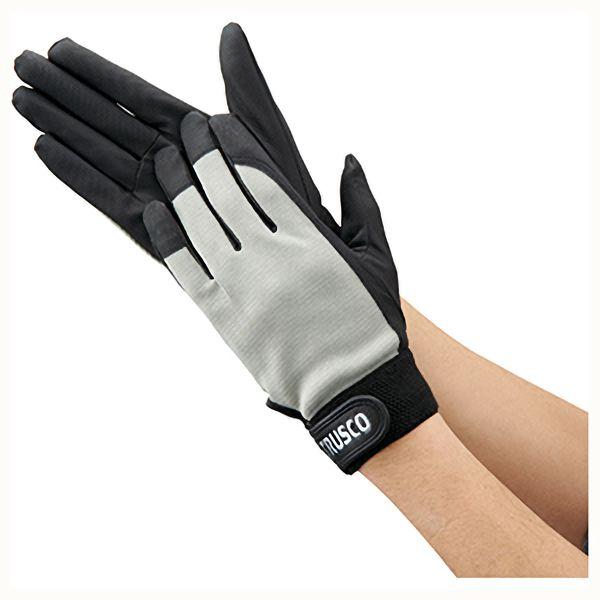 TRUSCO PU薄手手袋エンボス加工 グレー S TPUMGS 8539