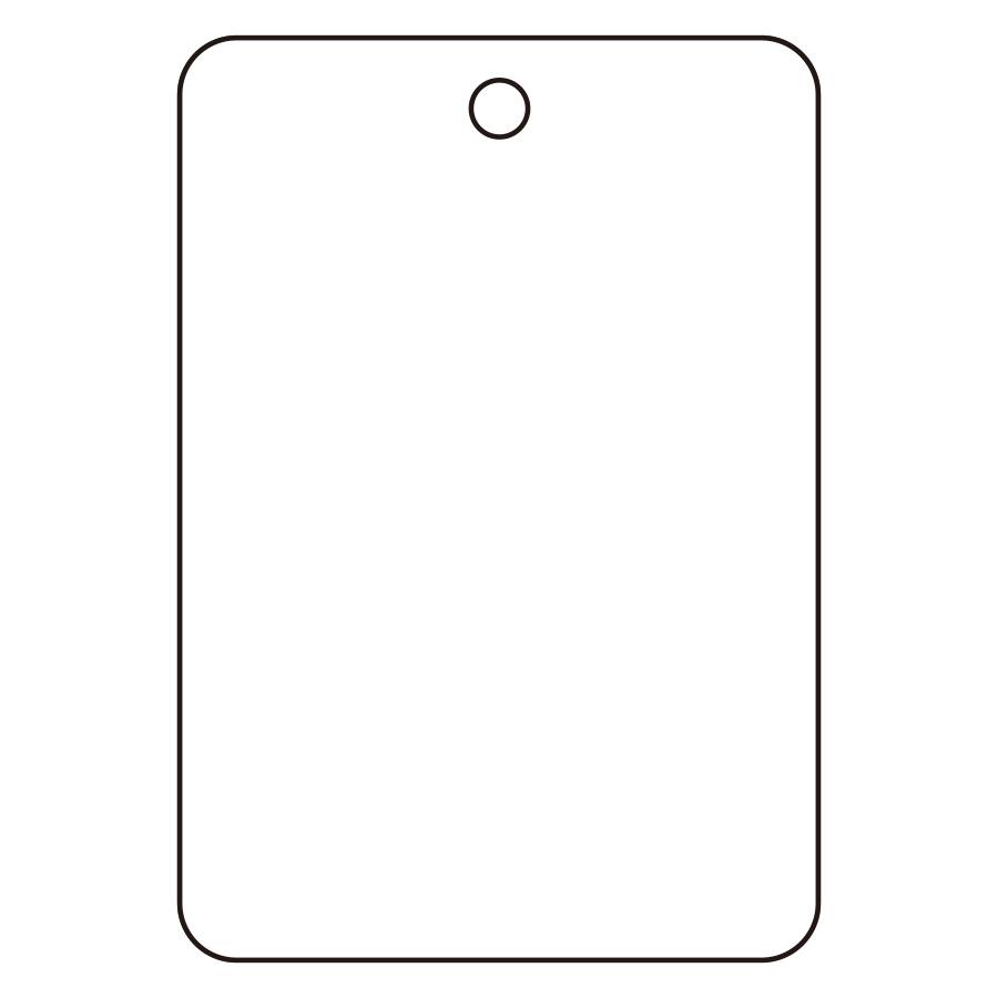 バルブ名表示板 459−30 長角型 白無地