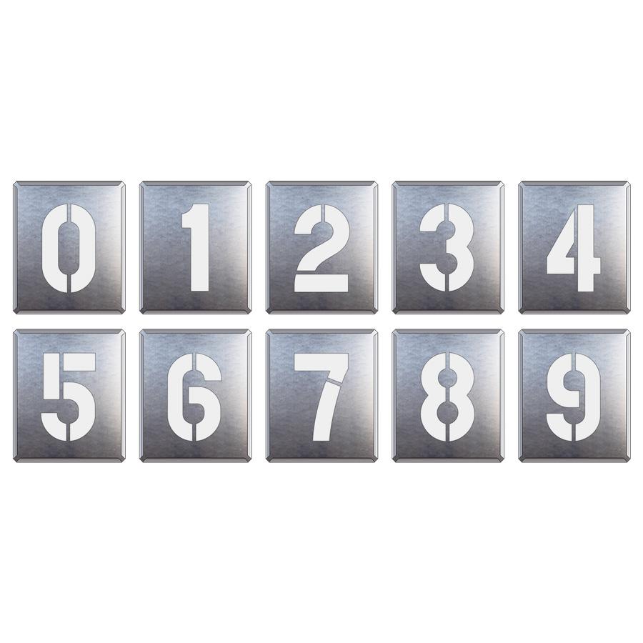 819−35A 吹付け用プレート 0〜9 (10枚1組)