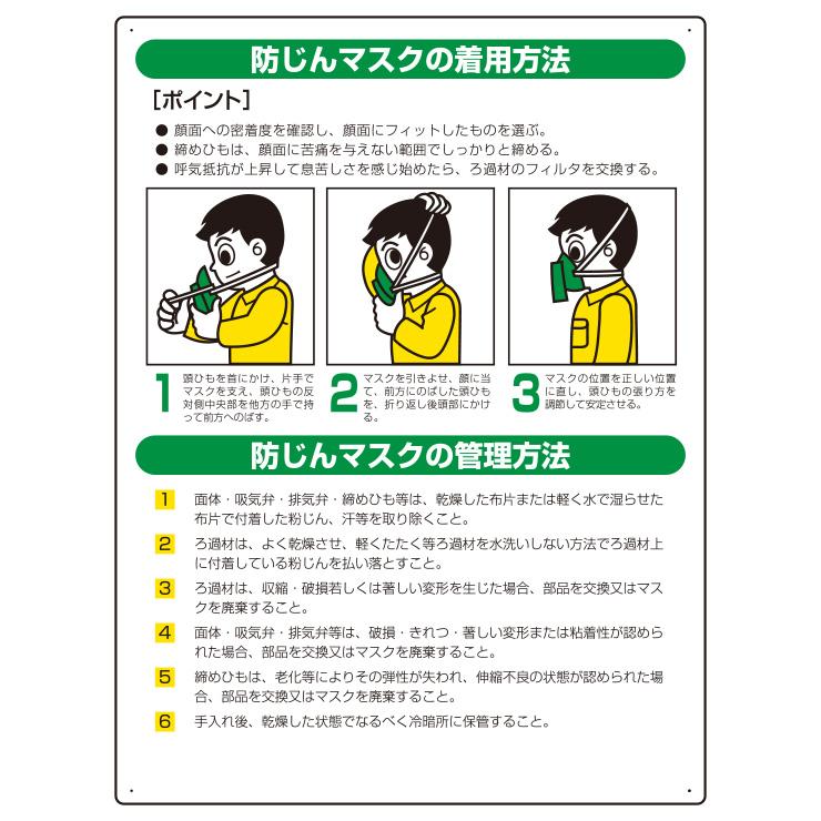 粉じん障害防止標識 820−26 防じんマスク
