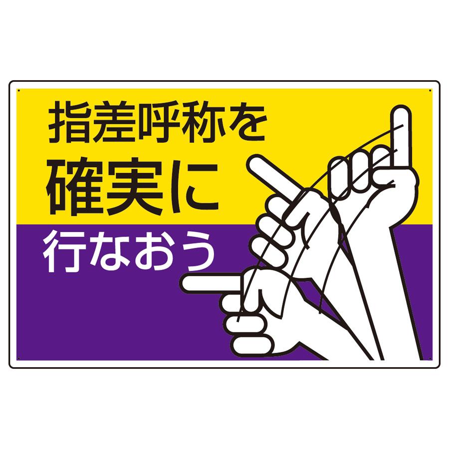 指差呼称標識 821−04 指差呼称を確実に行なおう