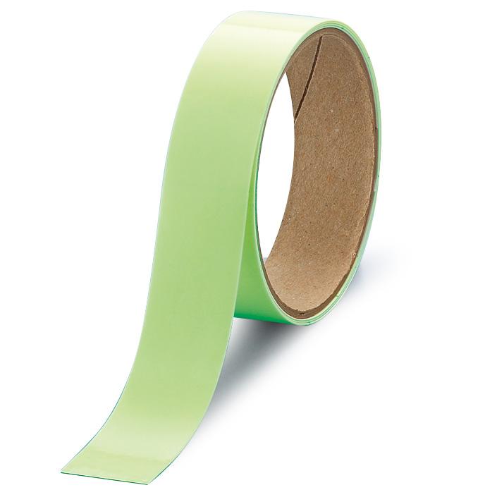 屋内の避難誘導 824−502 高輝度蓄光テープ 25mm巾×1M