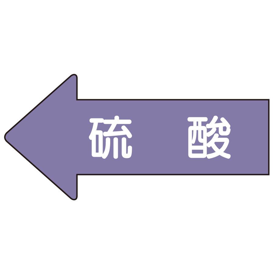 配管識別ステッカー AS−34L 左方向表示 硫酸 大
