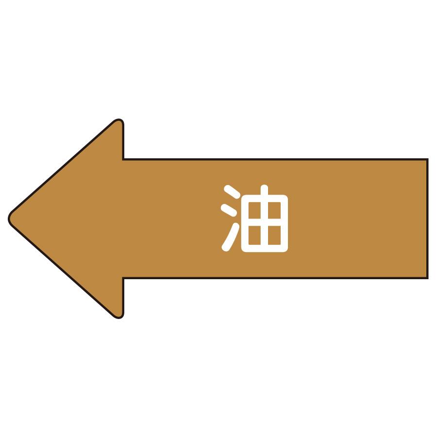 配管識別ステッカー AS−35S 左方向表示 油 小