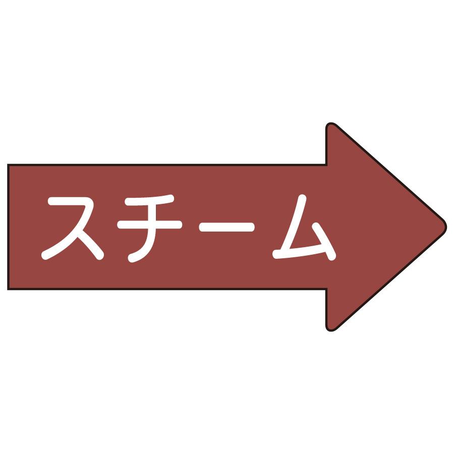 配管識別ステッカー AS−41−2M 右方向表示 スチーム・中