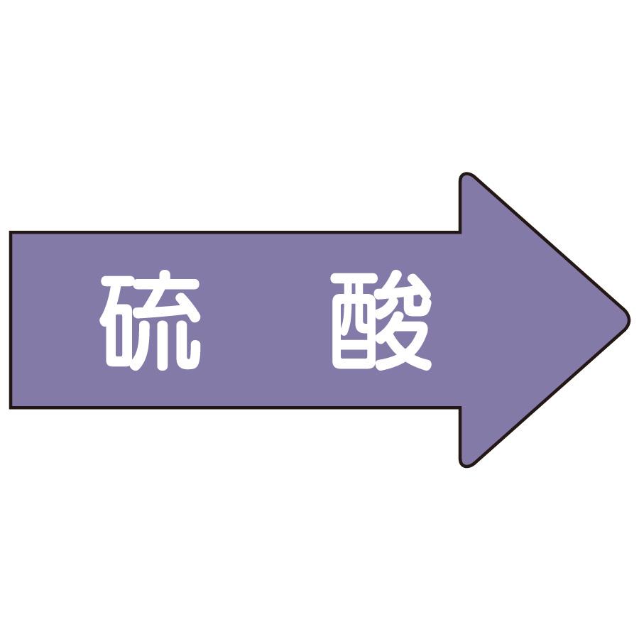 配管識別ステッカー AS−44M 右方向表示 硫酸 中