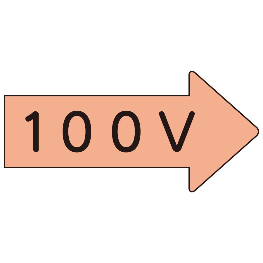 配管識別ステッカー AS−46−2SS 右方向表示 100V・極小