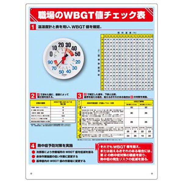 WBGT値チェック表(温湿度計付) HO−515 防雨型