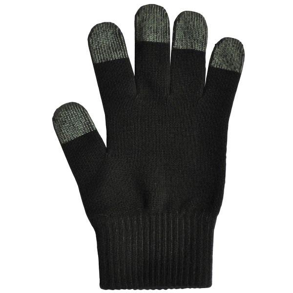 日本製 スマホ手袋 スマートタッチ 無地 5105 黒