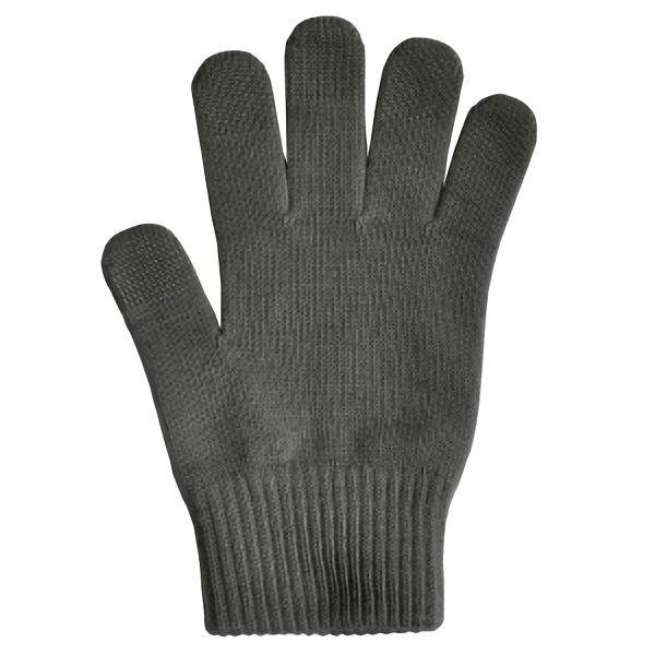 日本製 スマホ手袋 スマートタッチ 無地 5105 チャコール