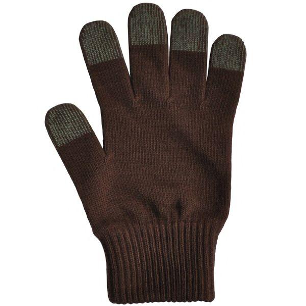 日本製 スマホ手袋 スマートタッチ 無地 5105 こげ茶