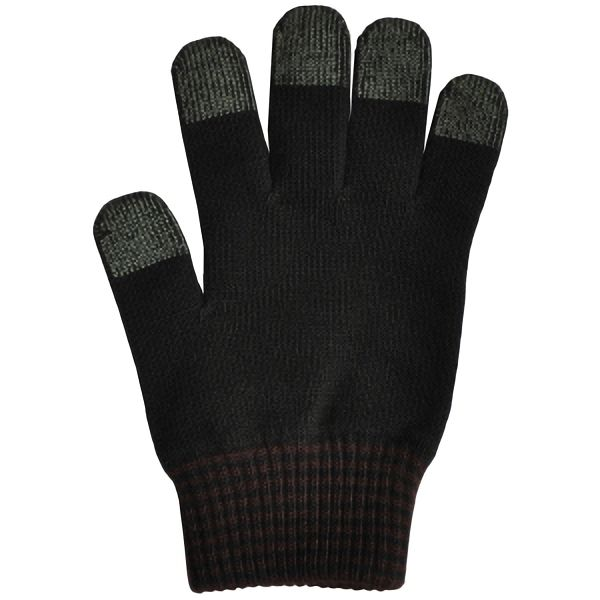 日本製 スマホ手袋 スマートタッチ カフスボーダー 5112 黒