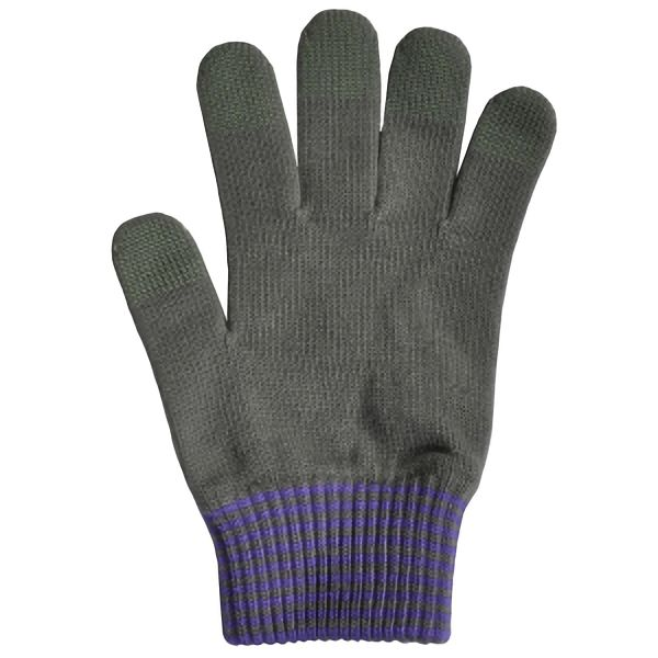 日本製 スマホ手袋 スマートタッチ カフスボーダー 5112 チャコール
