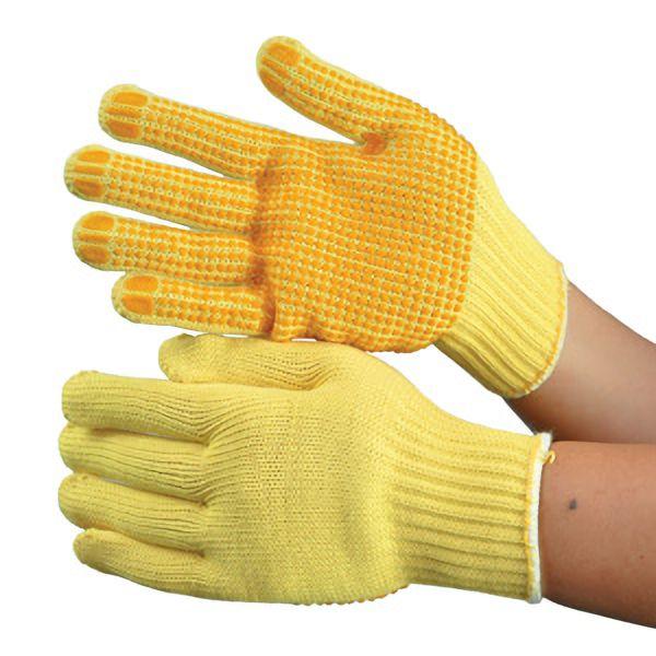 災害時に備える手袋 ケブラー繊維製手袋 KB−100V 滑り止め加工付