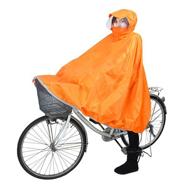 サイクルポンチョ ちゃりポン オレンジ M