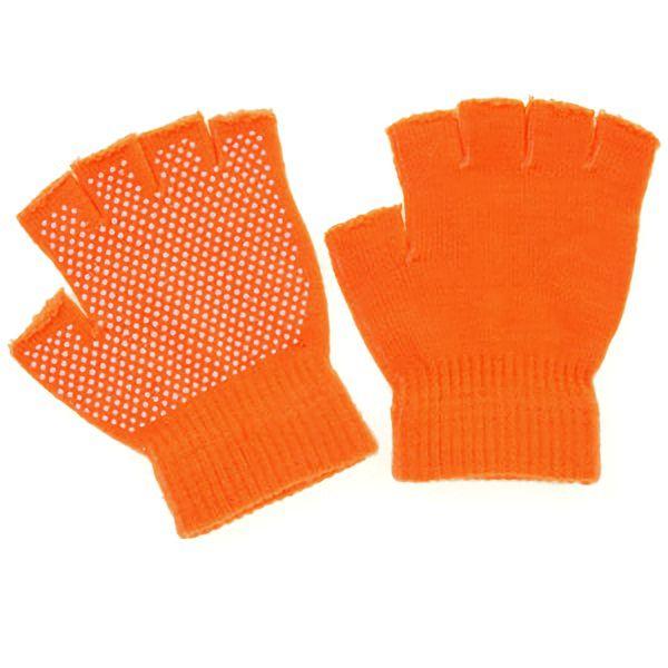 のびのび指切手袋 スベリ止め付 FT−3135 オレンジ