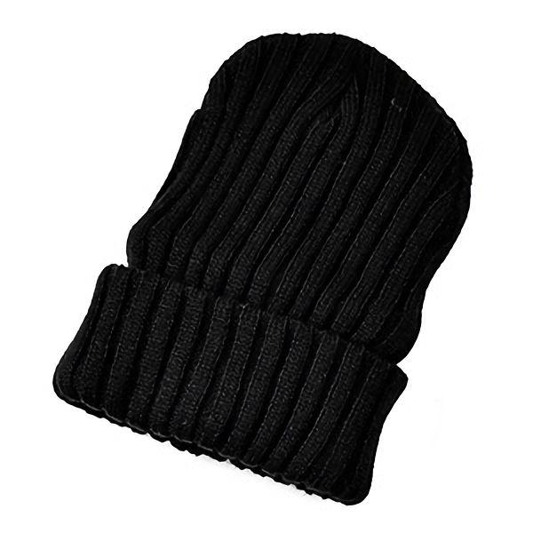 防寒対策用品 太リブワッチ帽 AG−52 ブラック
