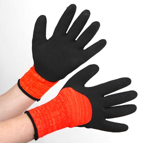 アクリル裏起毛ナックル 作業手袋 BL−321400 杢オレンジ L
