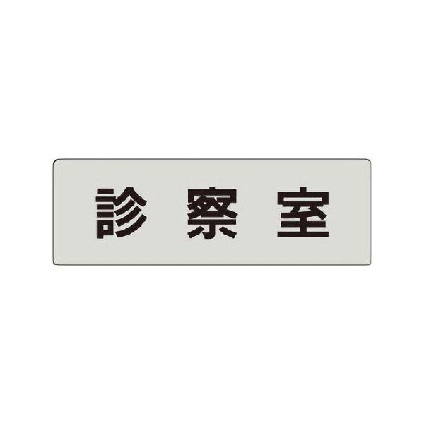 室名表示板 RS4−88 診察室 片面表示 文字入れ (グレー)