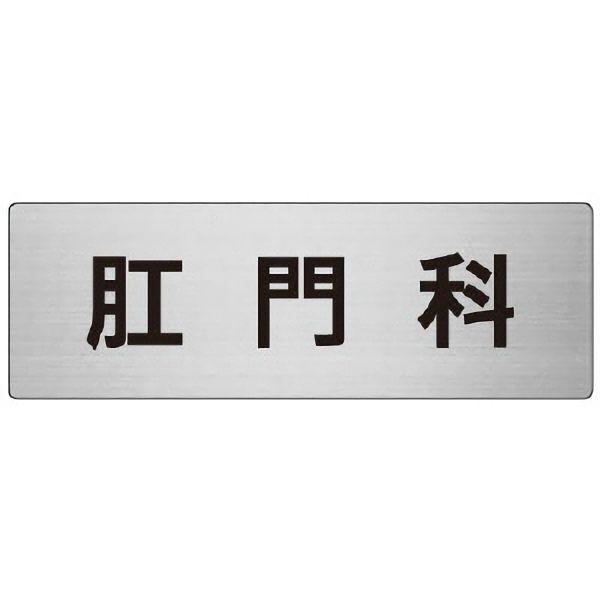 室名表示板 RS7−105 肛門科 片面表示 文字入れ (ヘアライン)
